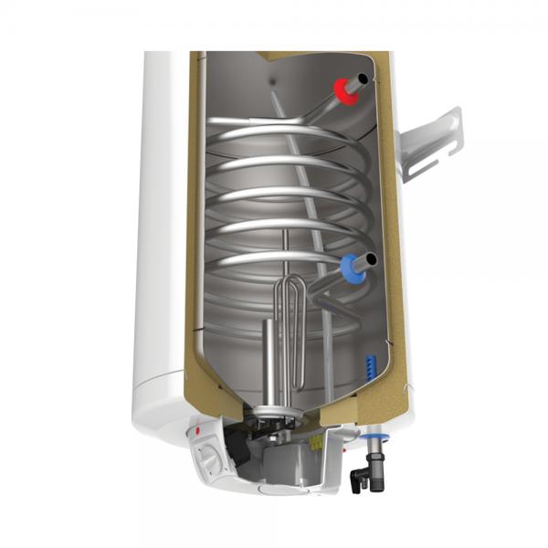 Електрически комбиниран бойлер Tedan Comby Inox 100 литра с дясна серпентина 3 kW
