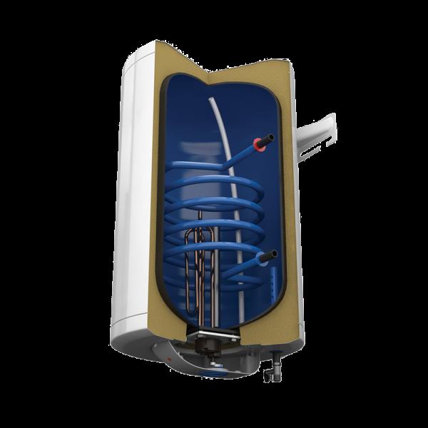 Електрически комбиниран бойлер Tedan Comby Enamel 80 литра с дясна серпентина